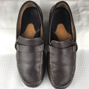 Born Women Brown Leather Loafers 8 1/2